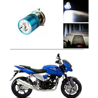 AutoStark Bike H4 3LED Bright Light Bulb White For Bajaj Discover 150 f