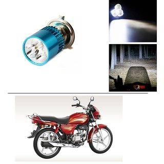 AutoStark Bike H4 3LED Bright Light Bulb White For Hero Splendor Plus