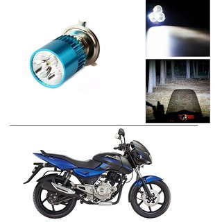 Buy AutoStark Bike H4 3LED Bright Light Bulb White For Bajaj