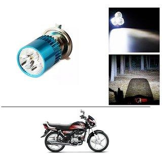 AutoStark Bike H4 3LED Bright Light Bulb White For Hero HF Deluxe