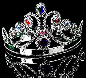 Fashion Cosplay Headwear Queen Royal Crown Diamond Halloween Party Crown Royal Stone Silver Crown Artificial Jewellery