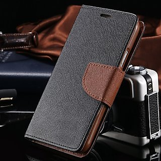 Mobimon Stylish Luxury Mercury Magnetic Lock Diary Wallet Style Flip case cover for Samsung Galaxy J2 ( Brown )