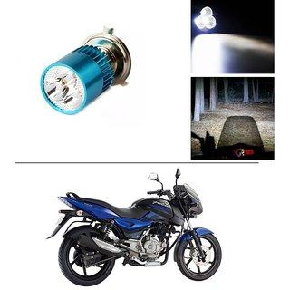 AutoStark Bike H4 3LED Bright Light Bulb White For Bajaj Pulsar 150