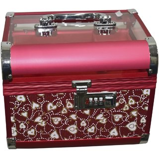 Pride Lovy to store cosmetics Vanity Box (Red)