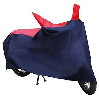 HMS Two wheeler cover with mirror pocket for Bajaj Platina - Colour Red and Blue