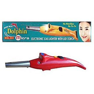2 In 1 Dolphin Electronic Gas Lighter With Led Torch