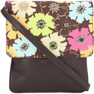 Vivinkaa  Flower Digital Printed Sling Bag for Women