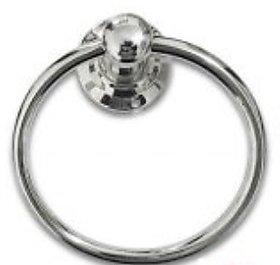 Kriwin Basic Stainless Steel Light Round Shape Towel Ring 1Pc