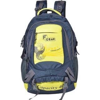 F Gear Firefly V2 40 Liters Rucksack (Navy blue Yellow) Sch Bag