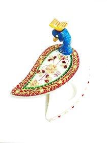 Marbe Decorative Flower Design  Peacock Chopra