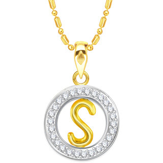 Vidhi jewels gold plated new arrival initial s alphabet alloy vidhi jewels gold plated new arrival initial s alphabet alloy brass pendant for women girls vap222g mozeypictures Image collections