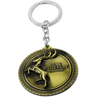 Faynci High Quality Metal Game of thrones our is the fury baratheon Key chain clool gift  For Fashion World