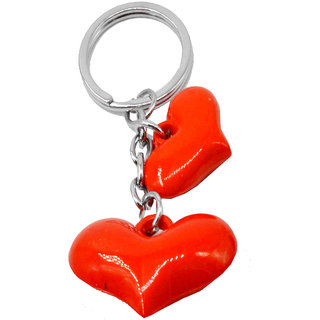 Faynci Twin cool heart love ball Key Chain