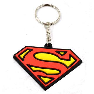 Faynci Superman Logo Silicone Key Chain