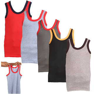 Lyril Pack of 5 Boys Cotton Vest (MultiColour )
