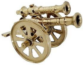 Handicraft Brass Canon Antique Look Only For Home Décor (  5 Inch X 8 Inch , No of Pieces 1  )  By Fashion Bizz