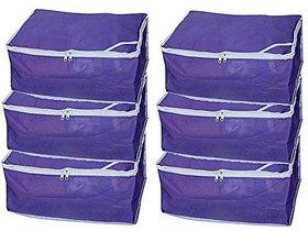 Fashion Bizz Non Woven Saree Cover Set Of 6 Pcs/Wardrobe  Organiser/Regular Clothed Bag