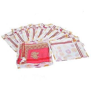 Fashion Bizz Non Woven Designer Bow Saree Cover Set Of 10 pcs Combo