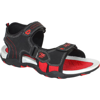 Super Men Black-953 Sandals  Floaters