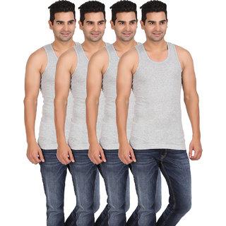 Lyril Classic Rib Gray Sleeveless Cotton Vest