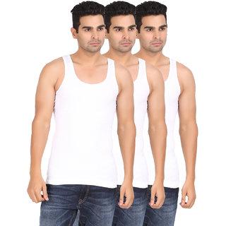 Lyril Junfrau Premium White Sleeveless Cotton Vest