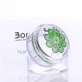 Born Pretty 4cm XL Clear Jelly Nail Art Stamper w/ Cap Transparent Silicone Scraper Manicure