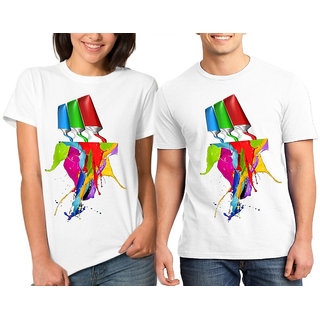 CACA ANP COlOR SPARKLE COUPLE COMBO TSHIRTS