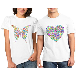 Caca Anp Love Butterfly Couple Combo Tshirts