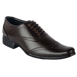 Austrich Mens Brown Decent Formal Shoes