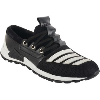Austrich Black White Trendy Sports Shoes