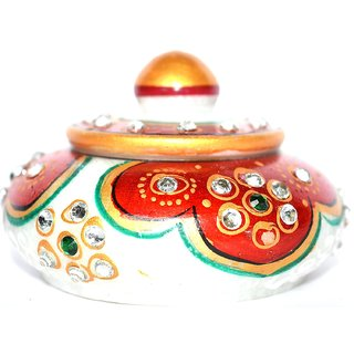 Marble Meenakari Red Sindoordani