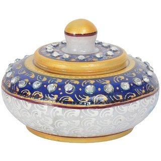 Marble Decorative WhiteBlue Sindoordani