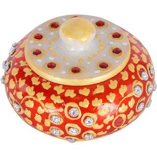 Ages Art marble red golden daimond design sindoordani