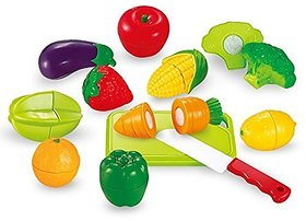 New Pinch Realistic Sliceable vegetable Cutting Play Toy Set for kids (multicolor)