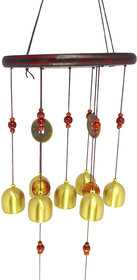 D4Ptl60 FENG SHUI WOODEN  METAL BALL WIND CHIME PIPES HANGING FOR POSITIVE ENERGY tl60