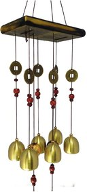 Discount4product FENG SHUI METAL  WOODEN WIND CHIME PIPES HANGING FOR POSITIVE ENERGY-mt539 Quantity