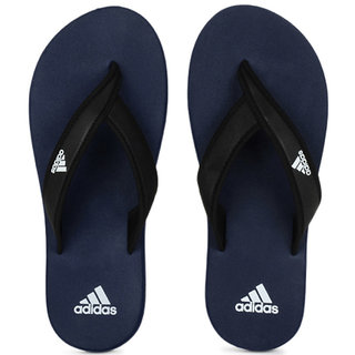 Adidas Men Black  Blue Adi Rio Flip Flops