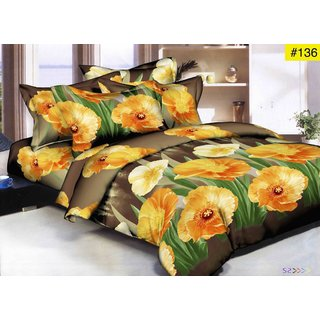 Weave Well 3D Double Bedsheet with 2 Pillow Covers AHF-APT3D8