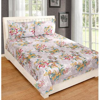 Weave Well 3D Double Bedsheet with 2 Pillow Covers AHF-APTZDB6