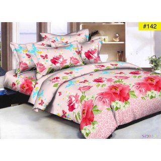 Weave Well 3D Double Bedsheet with 2 Pillow Covers AHF-APT3D10