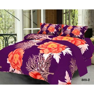 Weave Well 3D Double Bedsheet with 2 Pillow Covers AHF-APT3D12