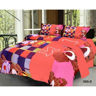 Weave Well 3D Double Bedsheet with 2 Pillow Covers AHF-APT3D13