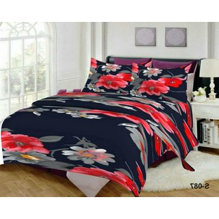 Weave Well 3D Double Bedsheet with 2 Pillow Covers AHF-APT3D18