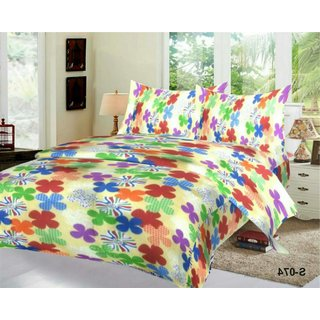 Weave Well 3D Double Bedsheet with 2 Pillow Covers AHF-APT3D20