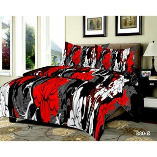 Weave Well 3D Double Bedsheet with 2 Pillow Covers AHF-APT3D23