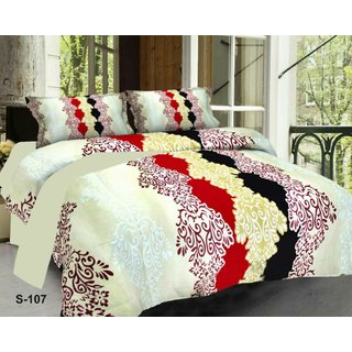 Weave Well 3D Double Bedsheet with 2 Pillow Covers AHF-APT3D25