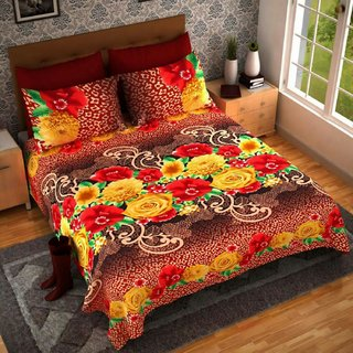 Weave Well 3D Double Bedsheet with 2 Pillow Covers AHF-APT3D26