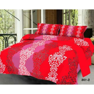 Weave Well 3D Double Bedsheet with 2 Pillow Covers AHF-APT3D27