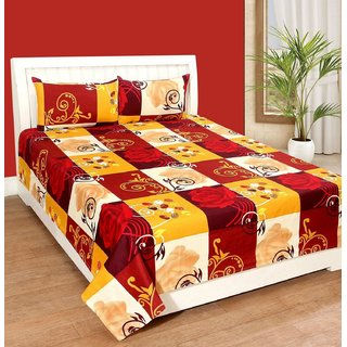Weave Well 3D Double Bedsheet with 2 Pillow Covers AHF-APT3D28