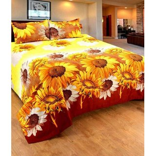 Weave Well 3D Double Bedsheet with 2 Pillow Covers AHF-APT3D29